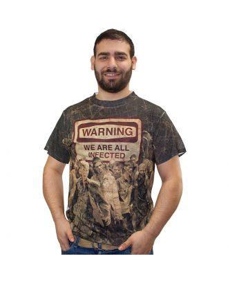 The Walking Dead We Are All Infected Sublimation Adult T-Shirt