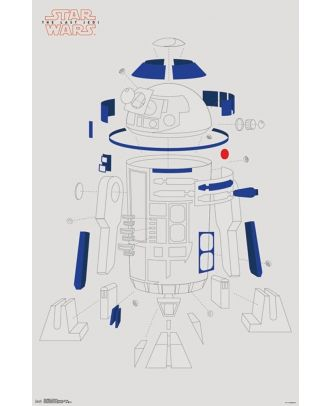Star Wars: The Last Jedi - R2D2 Blowout 22.375'' x 34'' Poster