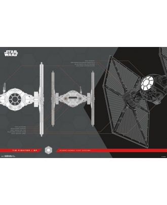 Star Wars: The Last Jedi - Tie Fighter 24x36 Collector's Poster