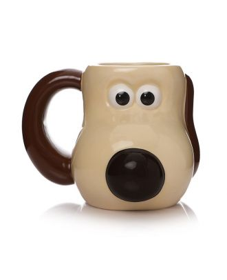 Wallace and Gromit - Gromit Head Shaped Mug Front