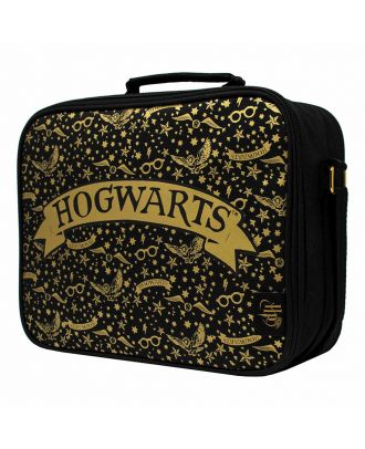 Harry Potter Hogwarts Lunch Bag With Gold Pattern