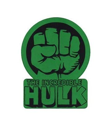 Incredible Hulk Fist Logo Iron-On Patch
