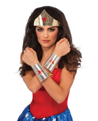 Wonder Woman Deluxe Costume  Tiara and Cuffs Accessory Set
