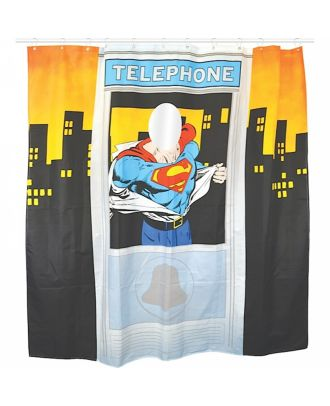 Superman Phone Booth Shower Curtain
