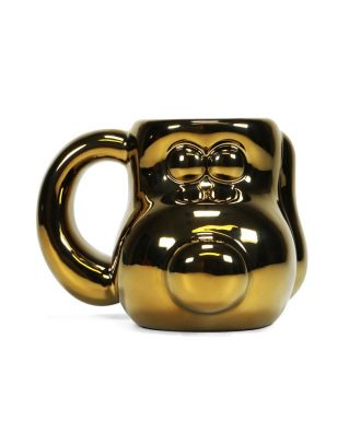 Wallace and Gromit - Gold Plated Gromit Head Shaped Mug