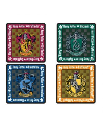 Harry Potter House Crests Square Coasters (set of 4)