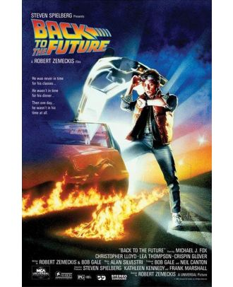 Back To The Future Credits 24x36 Poster