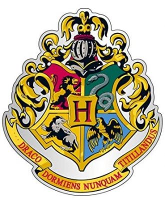 Harry Potter Monogram Hogwarts Enamel Pin
