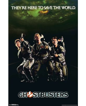 Ghostbusters Here To Save The World 22x34 Poster