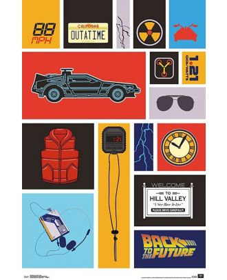 Back To The Future Elements 22x34 Poster