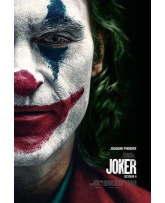Joker Movie 2019 Half Face 24x36 Poster