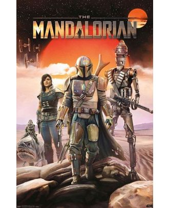 Star Wars - The Mandalorian  Group 22x34 Poster