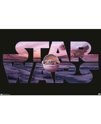 Star Wars - The Mandalorian Baby Yoda 34x22 Poster