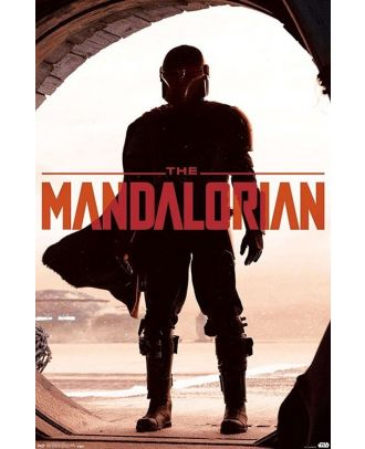 Star Wars - The Mandalorian In Doorway 22x34 Poster