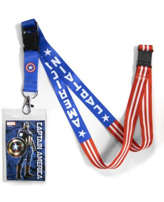Marvel Captain America Lanyard With ID Holder