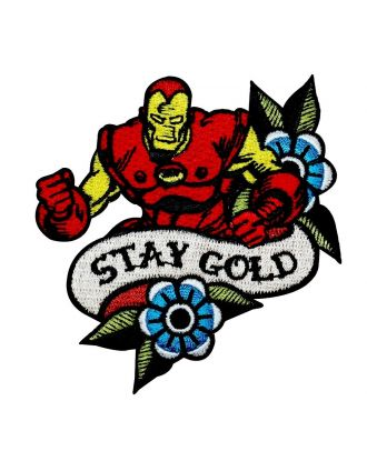 Iron Man Stay Gold Iron-On Patch