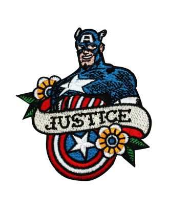Captain America Justice Iron-On Patch