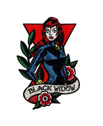 Black Widow Iron-On Patch