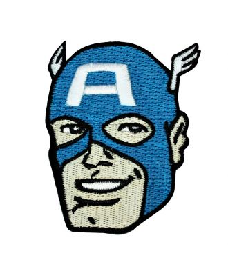 Captain America Face Iron-On Patch