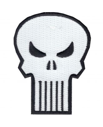 Punisher Skull Iron-On Patch