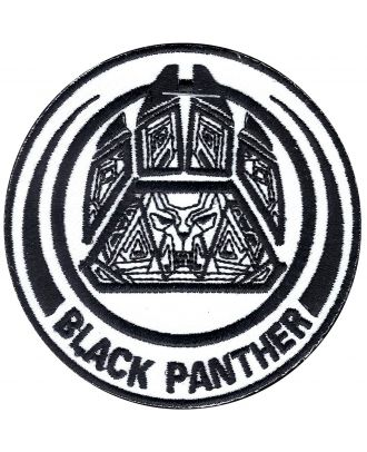 Black Panther Crest Iron-On Patch
