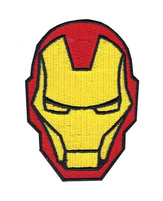 Iron Man Face Iron-On Patch
