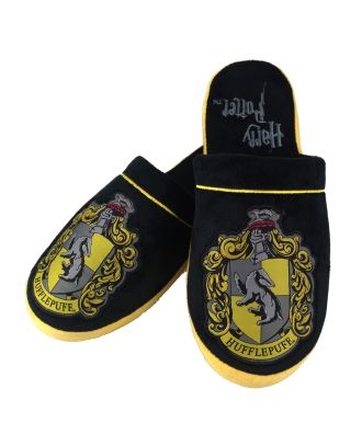 Harry Potter Hufflepuff Adult Mule Slippers US 9-11