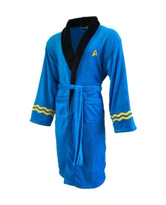 Star Trek Spock Blue Bathrobe