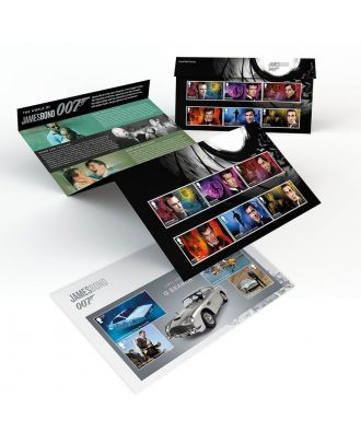 Royal Mail Postage Stamps James Bond Presentation Pack