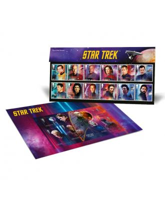 Star Trek Royal Mail Postage Stamps Presentation Pack