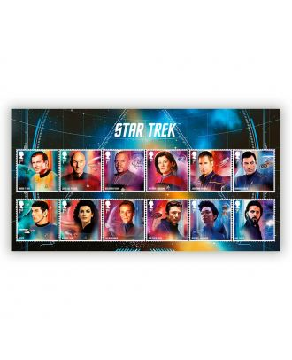 Star Trek Royal Mail Postage Stamps Character Set