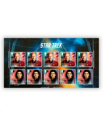 Star Trek Royal Mail Postage Stamps Next Generation Stamp Set