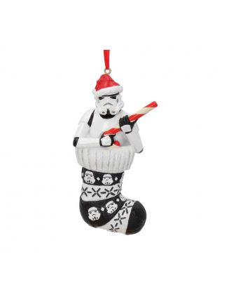 Stormtrooper in Stocking Hanging Ornament