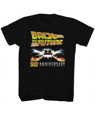 Back to the Future 30th Anniversary Logo Black Adult T-shirt