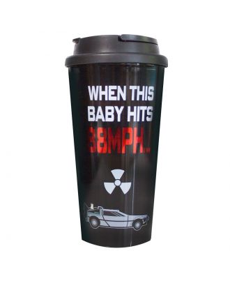 Back To The Future Plastic Travel Mug