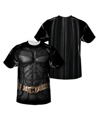 Batman Dark Knight Costume Double Sided Sublimation Adult T-shirt