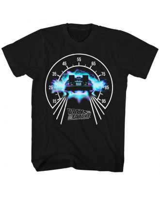 Back to the Future Speedometer Black Adult T-shirt