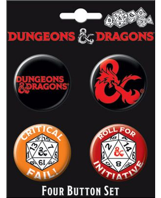 Dungeons and Dragons Four Button Carded Set 1