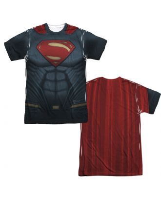 Batman V Superman Superman Outfit Double Sided Sublimation Adult T-shirt