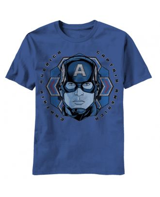 Captain America Candy Flake Adult T-Shirt