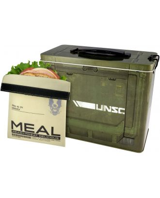 Halo Ammo Crate Tin Lunch Box With Reusable Sandwich Bag