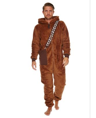 Star Wars Chewbacca Adult Mens Jumpsuit Front