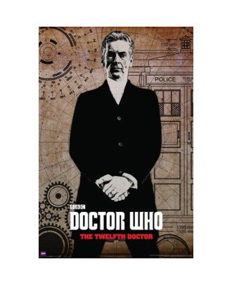 Doctor Who 12th Doctor Graffiti Poster