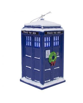 Doctor Who TARDIS With Wreath Holiday Ornament