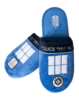 Doctor Who Doctor Who Tardis Adult Mule Slippers US 9-11