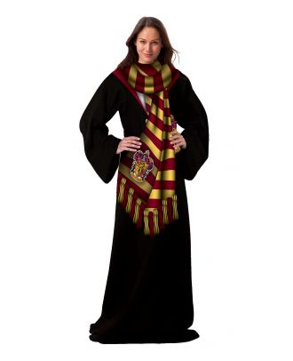 Harry Potter Winter Potter Adult Comfy Throw Blanket with Sleeves