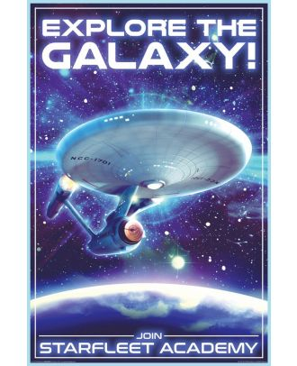 Star Trek Enterprise 1701 Explore The Galaxy 24x36 Poster