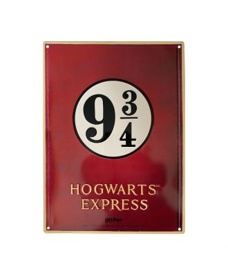 "Harry Potter Platform 9 3/4 (11"" x 15"")  Metal Sign"