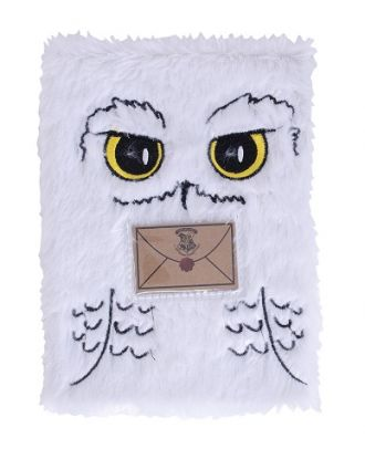 Harry Potter 5-7/8 x 8-1/4 Hedwig Plush Notebook