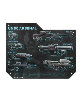HALO Weapon Specs Tin Sign